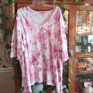 Woman Within Pink Floral Tunic 4X